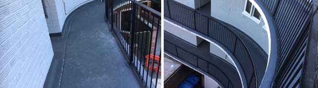 fast curing, cold applied liquid waterproofing system for balconies