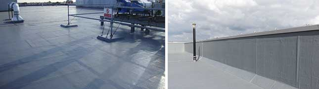 fast curing, cold applied liquid waterproofing system for high mechanical loads